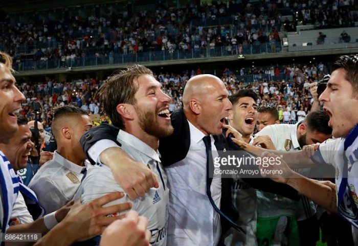 Zidane hails 'f***ing fantastic' Real title winners