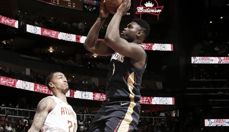 Com Zion Williamson, New Orleans Pelicans derrota Atlanta Hawks em amistoso
