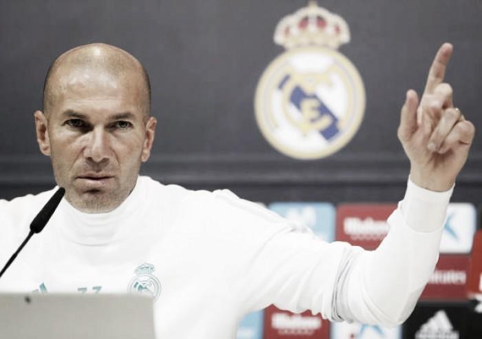 "Zidane evita individualizar críticas por má fase do Real Madrid: ""A culpa é de todos"""