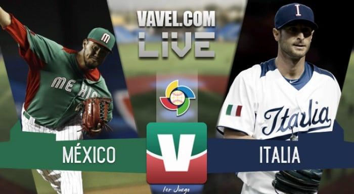 Resultado y carreras del México 9-10 Italia en Clásico Mundial de Beisbol 2017