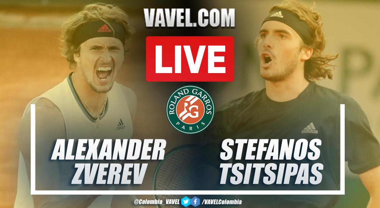 Highlights: Zverev 2-3 Tsitsipas in Roland Garros 2021 semifinal match