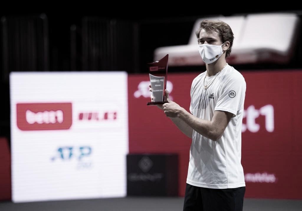 Alexander Zverev venceuFélix Auger-Aliassime no ATP de Colônia 2020 (ATP/Divulgação)