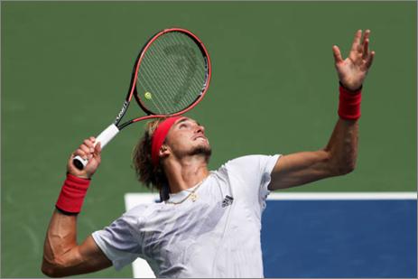 US Open: Alexander Zverev wears down Brandon Nakashima