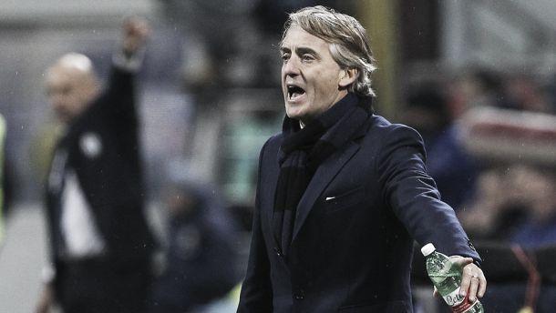 """Inter, Mancini commenta il pari contro il Palermo: """"Sfortunati sul corner e sul rosso"""""""