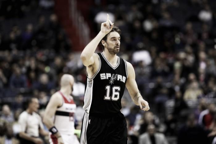 Veterano Pau Gasol assina por mais três anos com San Antonio Spurs