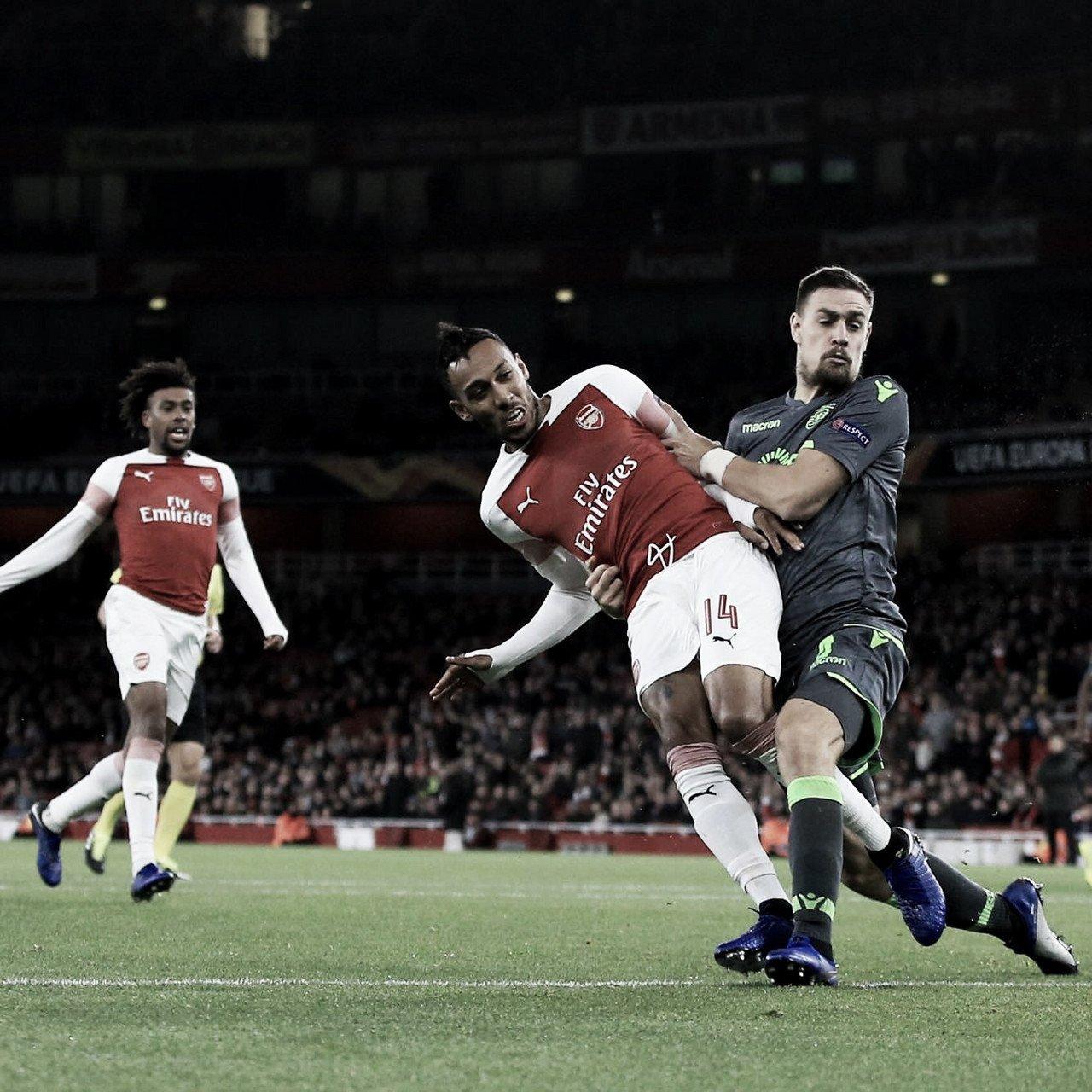 Com poucas emoções, Arsenal e Sporting ficam no empate sem gols pela UEL