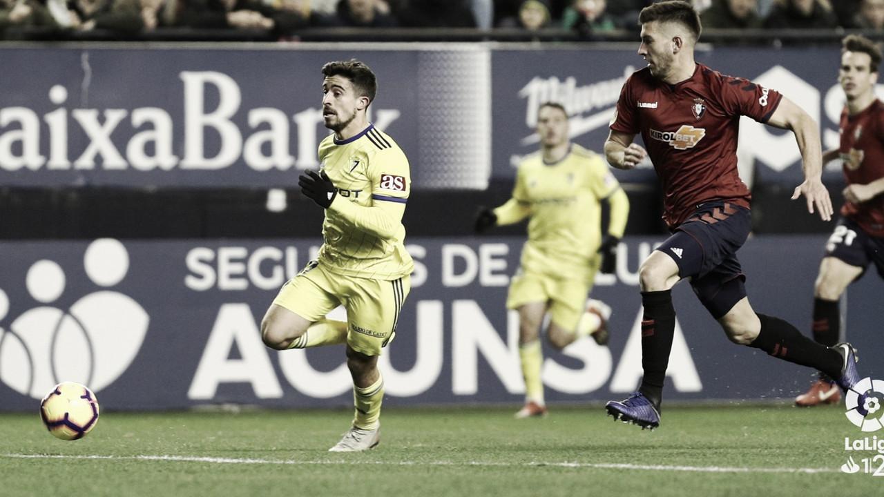 Osasuna 2-1 Cádiz CF: los Reyes Magos dejan carbón en Pamplona